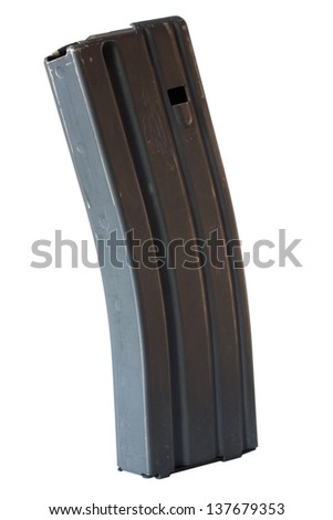 Magazine for an assault rifle that holds thirty rounds - stock photo