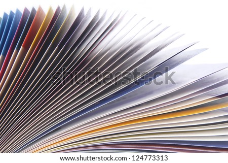 magazine paper texture macro - stock photo