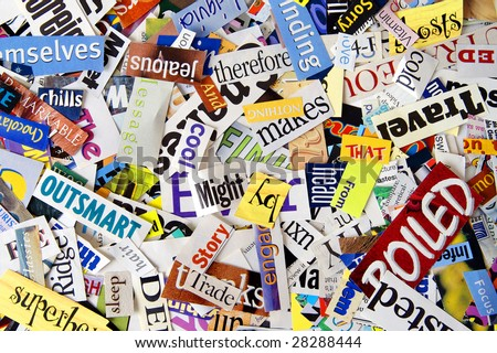 Magazine Word Clipping Background - stock photo