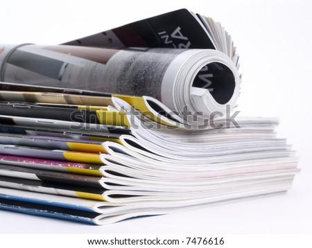 Magazines - stock photo