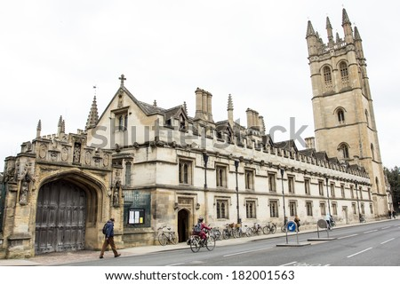 Magdalen College, Oxford, UK - stock photo