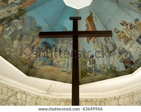Magellan's Cross Cebu City Philippines - stock photo