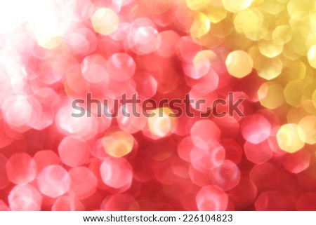 Magenta and gold sparkle background - Christmas soft lights background - stock photo