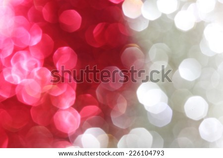 Magenta and silver sparkle background - Christmas soft lights background - stock photo