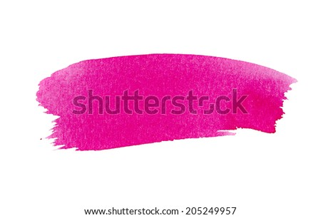 Magenta watercolor background for textures and abstract background -Hand drawn watercolor backdrop stain watercolors colors on wet paper  Composition for scrapbooking. - stock photo