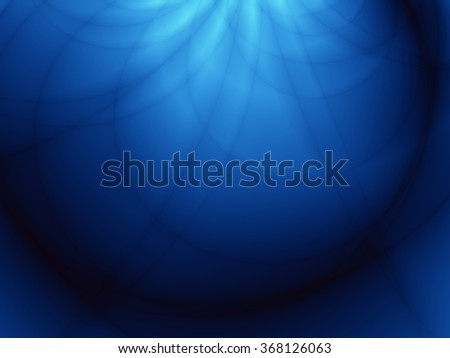 Magic blue deep underwater illustration abstract background - stock photo