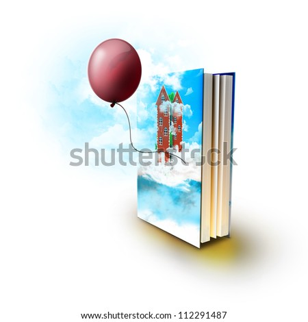 Magic book with real stories - stock photo