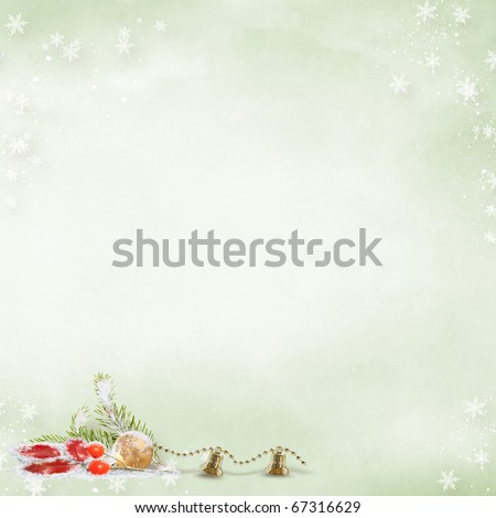 Magic Christmas background - stock photo