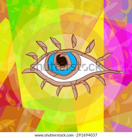 Magic eye, abstract art background  - stock photo