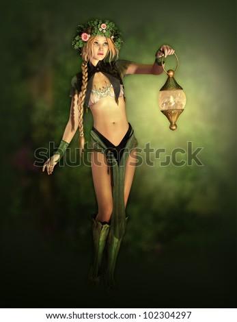 Magic Forest Fairy - stock photo