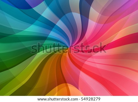 magic multicolored sunbeam background - stock photo