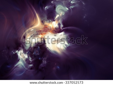Magic night. Abstract artistic bright color dynamic background with lighting effect. Futuristic fantasy clouds and smoke pattern for creative modern graphic design. Shiny liquid template. Fractal art - stock photo