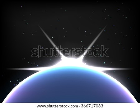 Magic Space - planets, stars and constellations, nebulae and galaxies, lights.  - stock photo