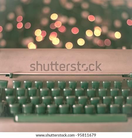 Magic typewriter - stock photo