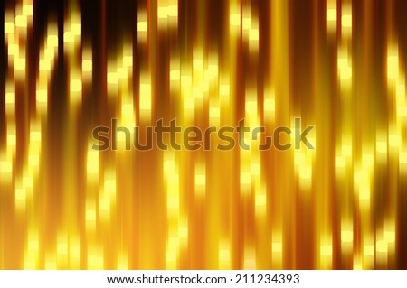 magic waterfall of lights  with glow effect and cristal stars - stock photo