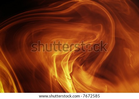 Magical fiery background - stock photo