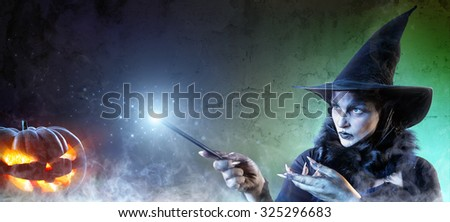 Magical Halloween - Witch Spell - stock photo