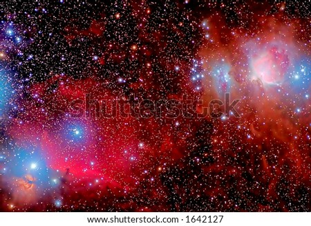 Magical Sky - stock photo