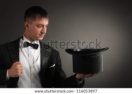 magician - stock photo