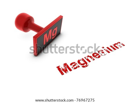 magnesium stamp - stock photo