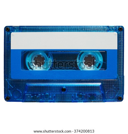 Magnetic tape cassette for analog audio music recording - stock photo