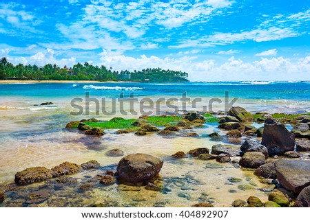magnificent landscape of the tropical sea - stock photo