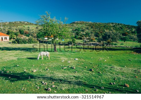 magnificent scenery on the Lycian Way in Turkey - stock photo