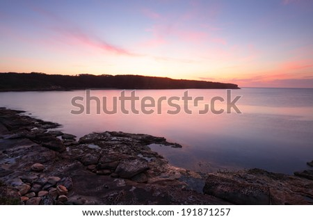 Magnificent sunrise at Botany Bay NSW Ausralia.    - stock photo