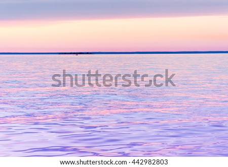 Magnificent View Burning Skies  - stock photo