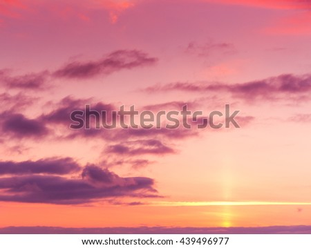Magnificent View Glowing Paradise  - stock photo