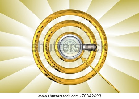 magnifier background - stock photo