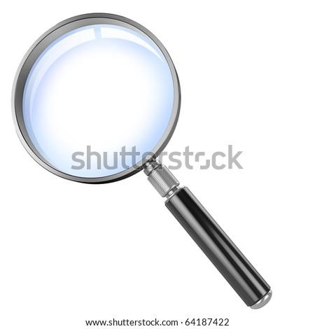 magnifier 3d illustration - stock photo