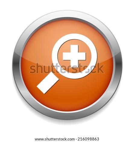 magnifier icon - stock photo