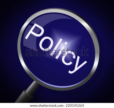Magnifier Policy Meaning Guideline Legal And Rules - stock photo