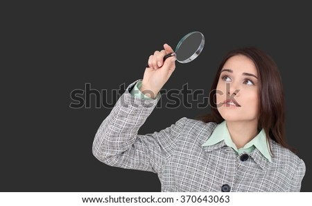 Magnifying Glass. - stock photo