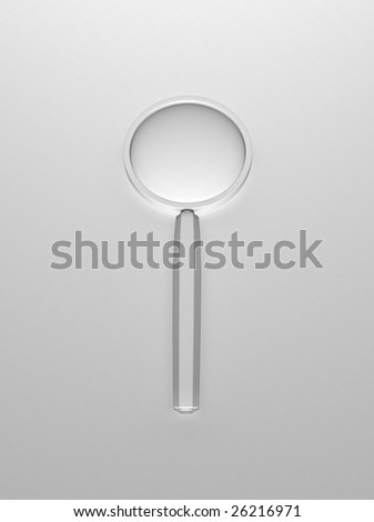Magnifying Glass (3d background) - stock photo