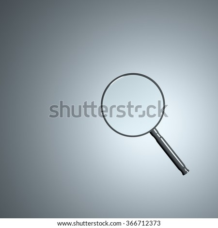 Magnifying glass 3d render - stock photo