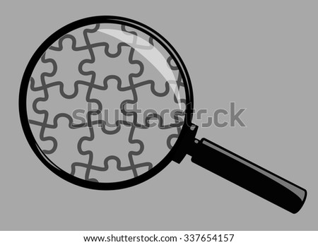 Magnifying Glass Isolated on Grey Background - stock photo