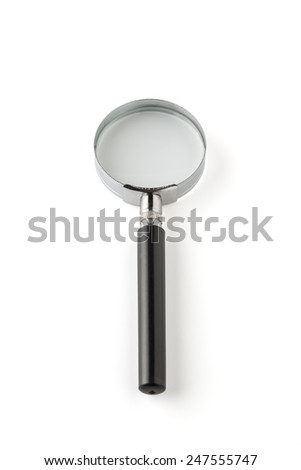Magnifying Glass. Isolated On White . With Clipping Patch - stock photo