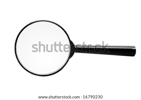 Magnifying glass isolated over a white background - stock photo