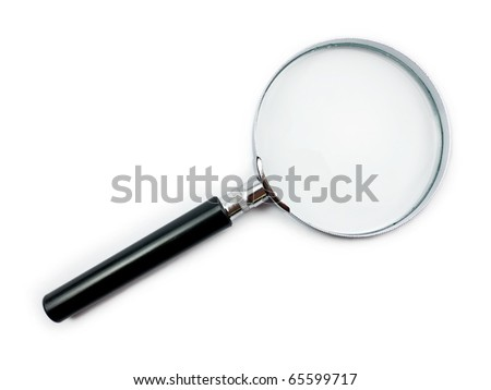 Magnifying Glass on white background with shadow - stock photo