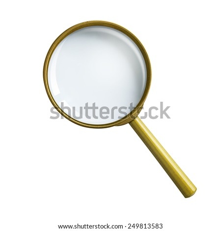 magnifying glass or loupe isolated with clipping path included - stock photo