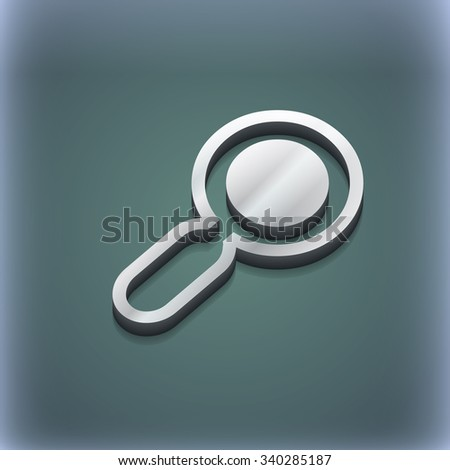 magnifying glass, zoom icon symbol. 3D style. Trendy, modern design with space for your text illustration. Raster version - stock photo