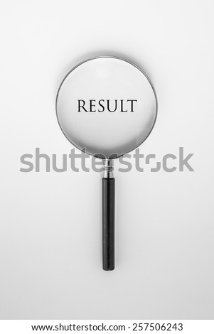 Magnifying on Word Results - stock photo