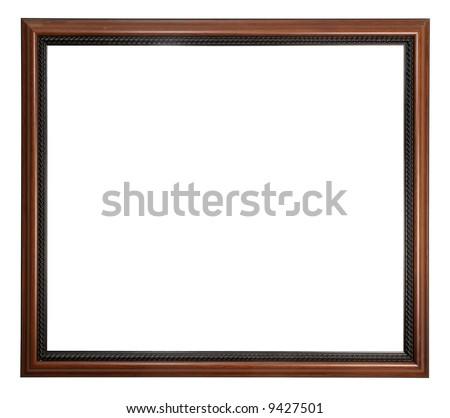 Mahogany picture frame - stock photo