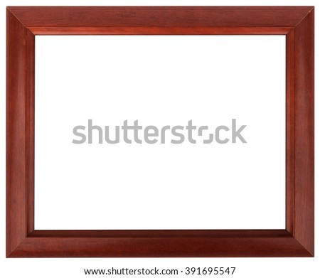 Mahogany picture frame isolated on white color. - stock photo
