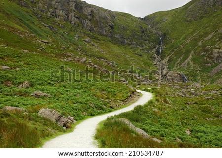 Mahon Falls, Comeragh Mountains, Co Waterford, Ireland - stock photo