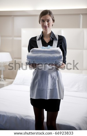 Maid at work - stock photo