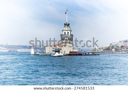 maiden's tower at istanbul - stock photo