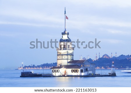 Maiden's tower istanbul Turkey - stock photo